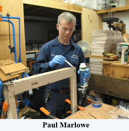 Paul Marlowe applying epoxy consolidant