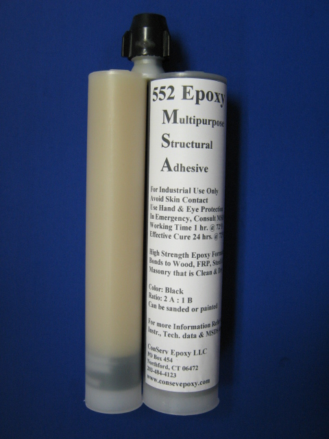 Multipurpose Structural Epoxy Adhesive 552 - caulkable dual cartidge