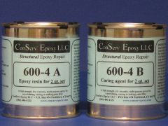 600-4 Rigid Epoxy Repair - 2 quart set