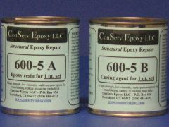 600-5 Rigid Epoxy Repair - 1 quart set