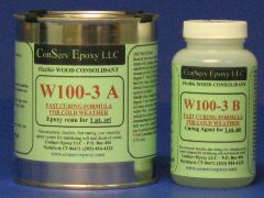 W100-3 Flexible Epoxy Consolidant Faster Curing - 1 pint