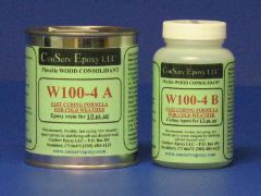 W100-4 Flexible Epoxy Consolidant Faster Curing - 1/2 pint