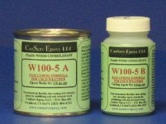 W100-5 Flexible Epoxy Consolidant Faster Curing - 1/4 pint
