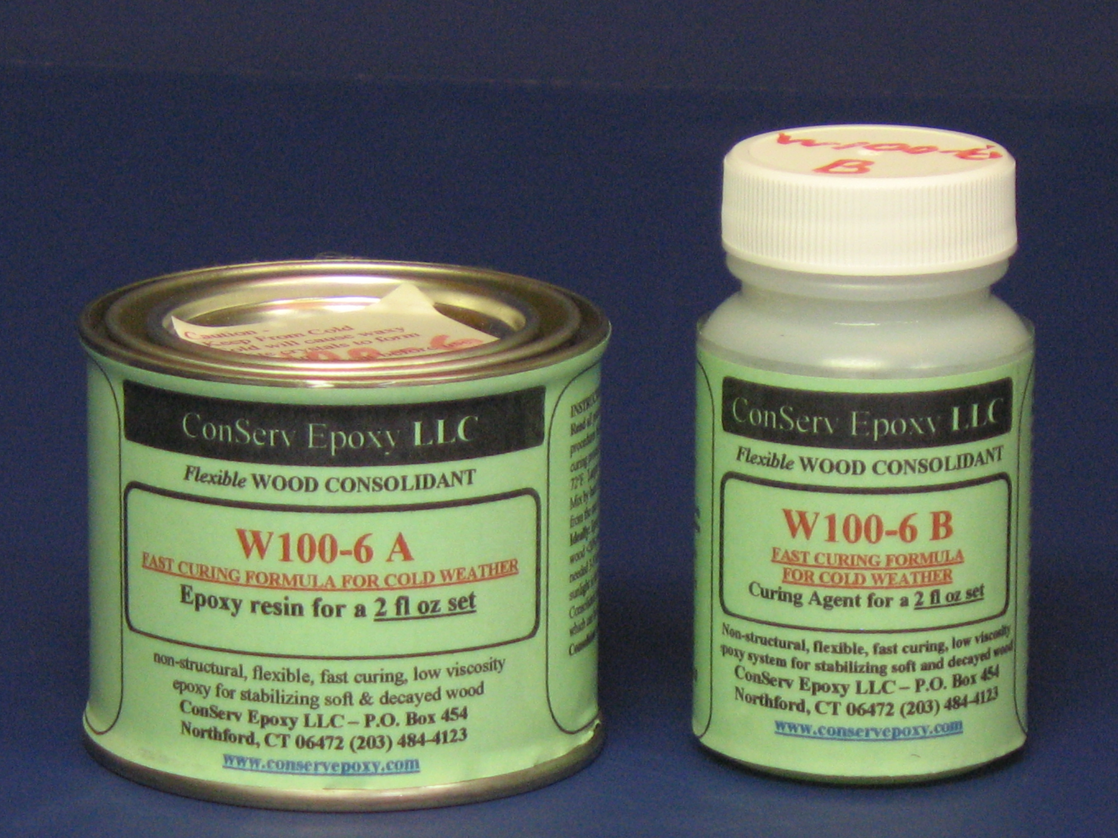 W100-6 Flexible Epoxy Consolidant Faster Curing - 2 fl oz