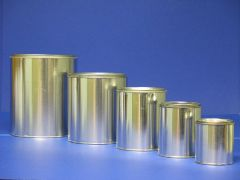 Tin Paint Cans (Empty, unlined with Lids)